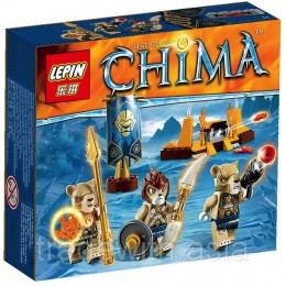 Конструктор LEPIN 04018 аналог LEGO 70229 Lion Tribe Pack LIGENDS OF CHIMA