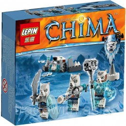 Конструктор LEPIN 04019 аналог LEGO 70230 Ice Bear Tribe Pack LIGENDS OF CHIMA