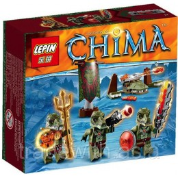 Конструктор LEPIN 04020 аналог LEGO 70231 Crocodile Tribe Pack LIGENDS OF CHIMA