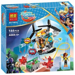 Конструктор BELA 10614 аналог LEGO 41234 Вертолёт Бамблби SUPER HERO GIRLS
