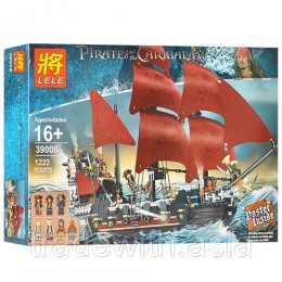 Конструктор LELE 39008 аналог LEGO 4195 Месть королевы Анны PIRATES OF THE CARIBBEAN