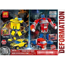 Конструктор LELE 39070 аналог LEGO Transformers Bumblebee and Optimus Prime