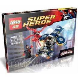 Конструктор LEPIN 07030 аналог LEGO 76036 Нападение Карнажа  SUPER HEROES MARVEL