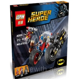 Конструктор LEPIN 07032 аналог LEGO 76053 Бэтмен: Погоня на мотоциклах по Готэм-сити SUPER HEROES MARVEL
