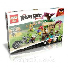 Конструктор LEPIN 19003 аналог LEGO 75823 Кража яиц c Птичьего острова ANGRY BIRD MOVIE