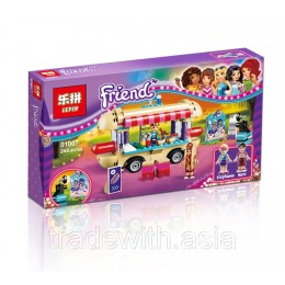 Конструктор LEPIN 01007 аналог LEGO 41129 Парк развлечений: фургон с хот-догами LEGO FRIENDS
