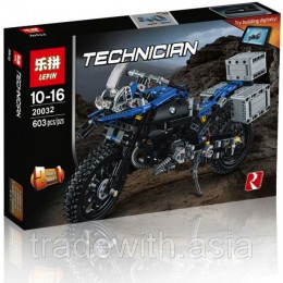 Конструктор LEPIN 20032 аналог LEGO 42063 Приключения на BMW R1200 GS TECHNICS
