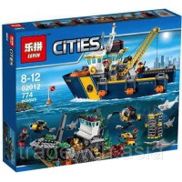 Конструктор LEPIN 02012 копия LEGO 60095 Deep Sea Exploration Vessel CiTiES