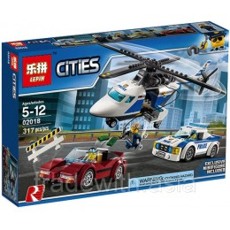 Конструктор LEPIN 02018 копия LEGO 60138 High-speed Chase CiTiES