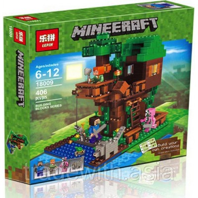 Конструктор LEPIN 18009 аналог LEGO 21125 Tree House MINEERAFT