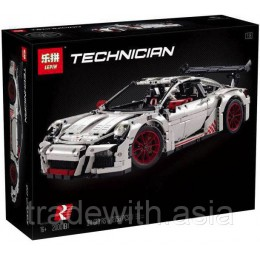 Конструктор LEPIN 20001B аналог LEGO 42056 Porsche 911 GT3 RS (white) TECHNICS