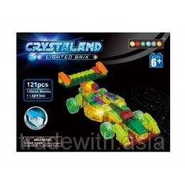 Светящийся конструктор Crystaland «F1 CAR» 99032