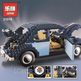 Конструктор LEPIN 21014 аналог LEGO 10187 VW Beetle Charlotte Speed Champions