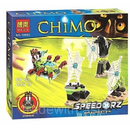 Конструктор BELA 10082 аналог LEGO 70138 Паучьи сети LEGENDS OF CHIMA