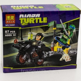 Конструктор BELA 10261 аналог LEGO 79118 Побег Караи на мотоцикле TEENAGE MUTANT NINJA TURTLES