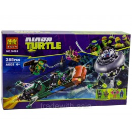 Конструктор BELA 10263 аналог LEGO 79120 Нападение с воздуха TEENAGE MUTANT NINJA TURTLES