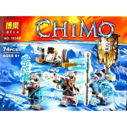 Конструктор BELA 10349 аналог LEGO 70232 Лагерь клана Саблезубых Тигров LEGENDS OF CHIMA