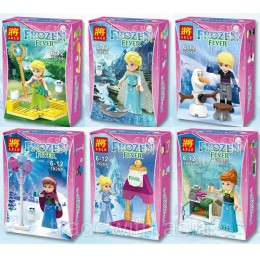 Конструктор LELE 79264 аналог LEGO Набор из 6 конструкторов DISNEY PRINCESSES