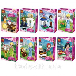 Конструктор LELE 37006 аналог LEGO Набор из 8 конструкторов DISNEY PRINCESSES