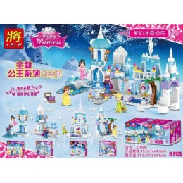 Конструктор LELE 37024 аналог LEGO Набор из 4 конструкторов DISNEY PRINCESSES