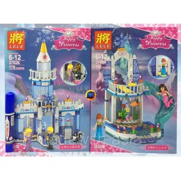 Конструктор LELE 37026 аналог LEGO Набор из 2 конструкторов DISNEY PRINCESSES