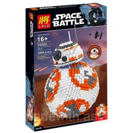 Конструктор LELE 35020 аналог LEGO 75187 Дроид BB-8 STAR WARS