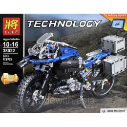 Конструктор LELE 38022 аналог LEGO 42063 Приключения на BMW R 1200 GS TECHNIC