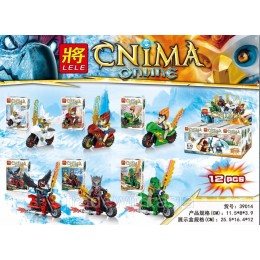 Конструктор LELE 39014 аналог LEGO Набор из 6 конструкторов LEGENDS OF CHIMA